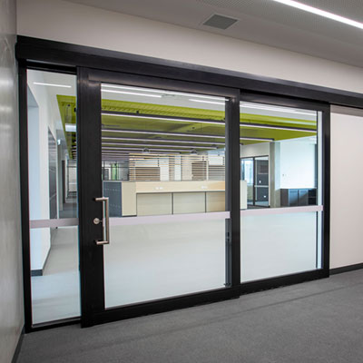 image of acoustic sliding door at a Victoria high school
