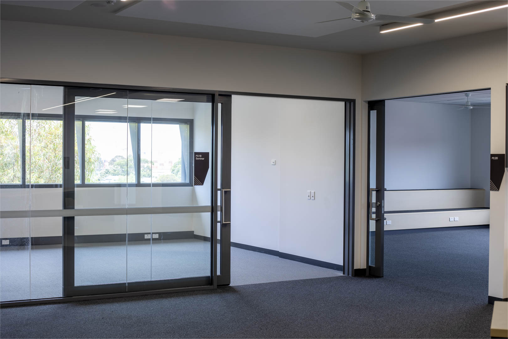 image of school's acoustic glazed sliders with the doors opened
