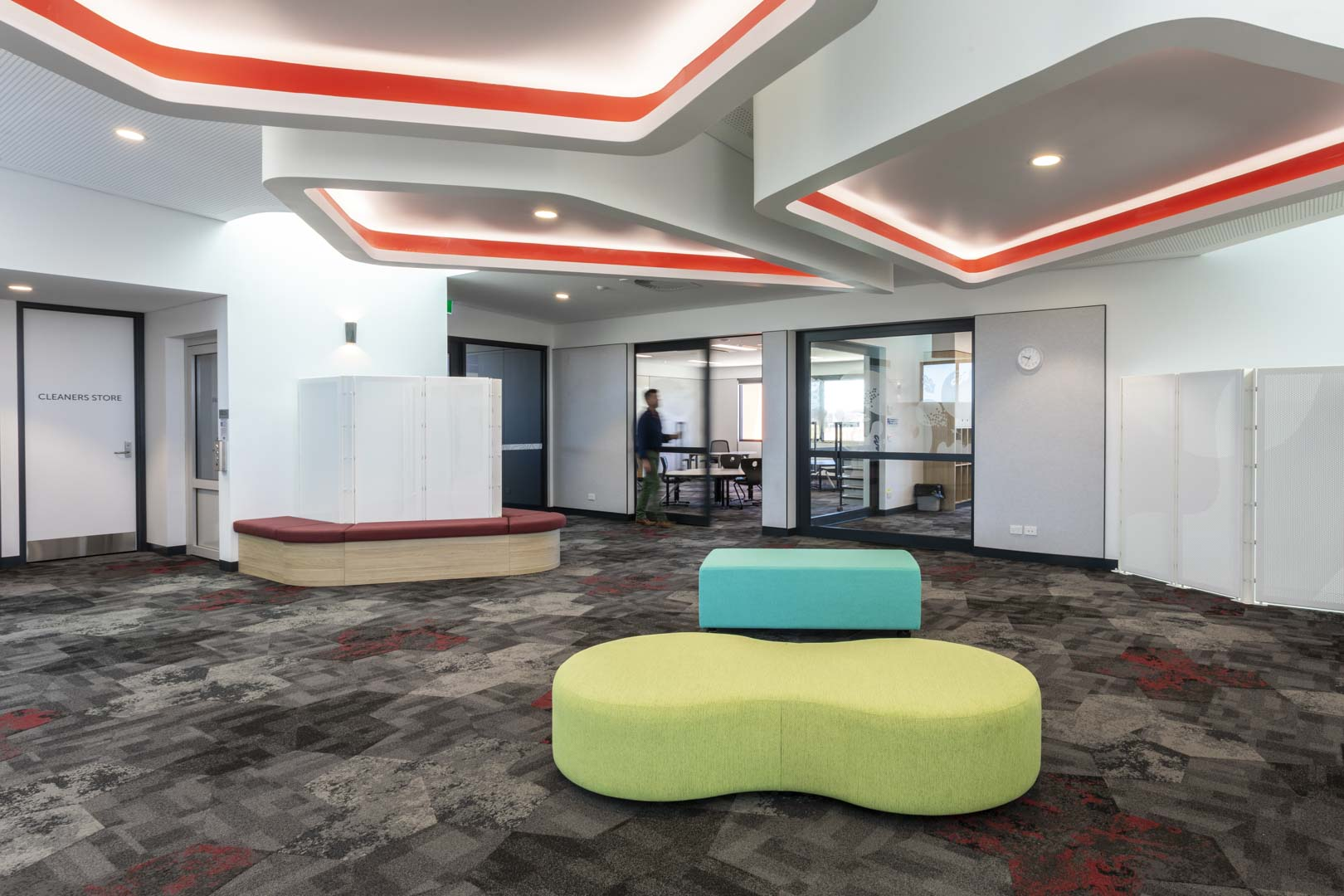 image of a grammar school that used acoustic sliding doors to create GLA
