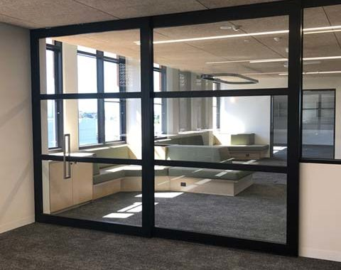 image of cavity and face mounted acoustic sliding doors at Methodist Ladies' College