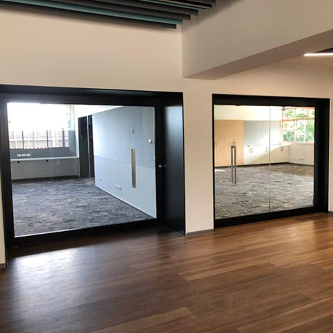 image of acoustic sliding doors at St Thomas the Apostle Primary School