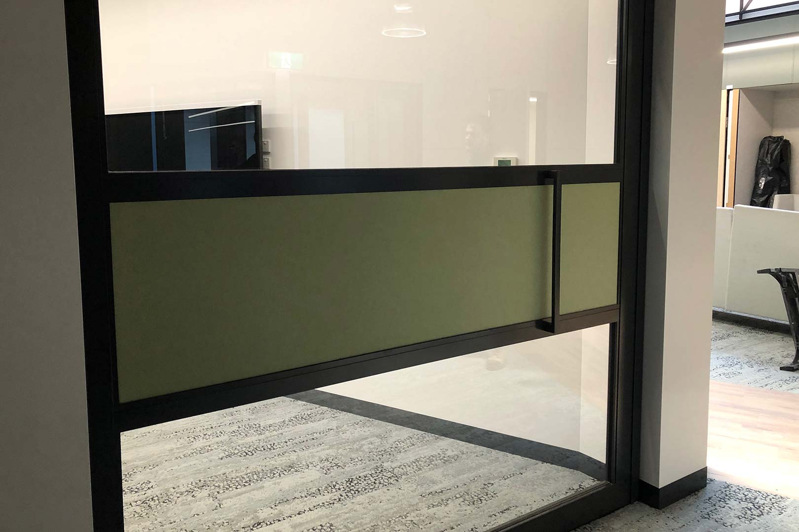 image of acoustic rated sliding door system installed at a university