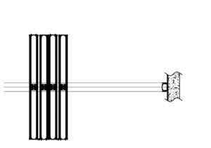 illustration of operable wall centre stack