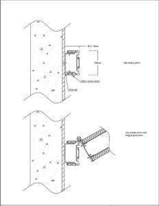 operable wall adjustable jamb drawing
