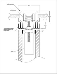 diagram of operable wall top sweep centre stack board