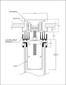 operable wall top sweep centre stack glazed drawing