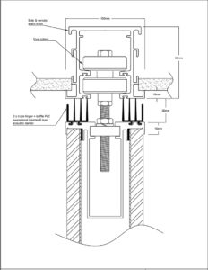 diagram of operable wall top sweep