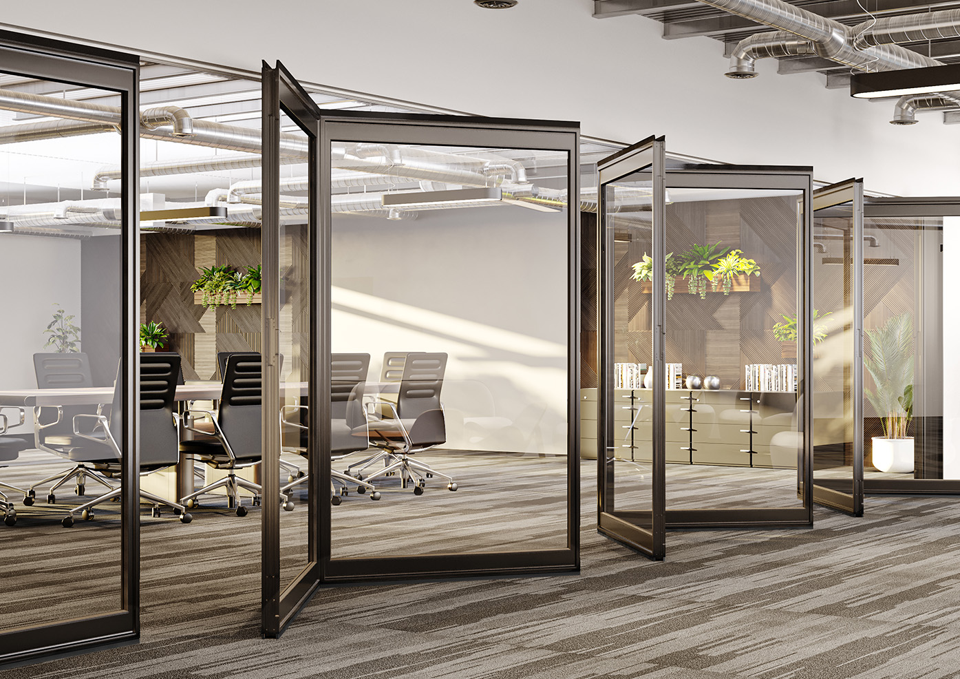 image of Optica operable wall if business office