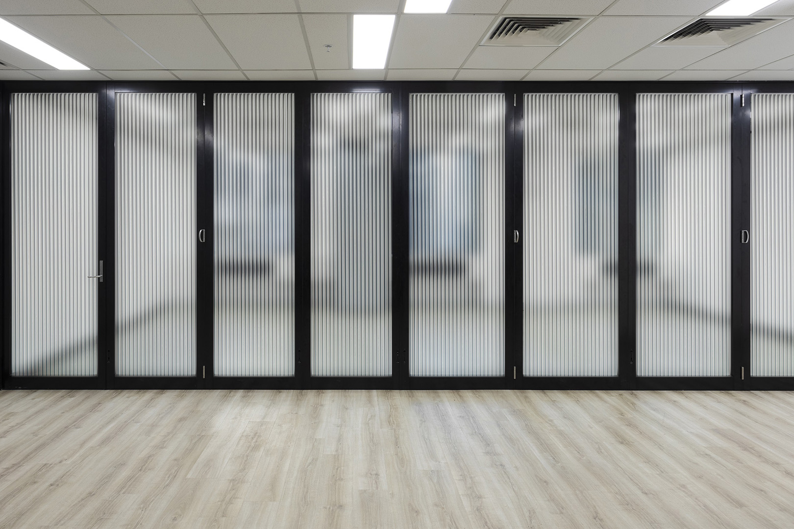 image of single glazed doors installed in a corporate office