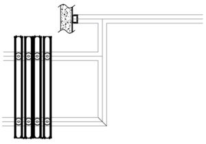 drawing of operable wall remote stack