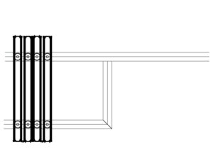 drawing of operable wall side stack