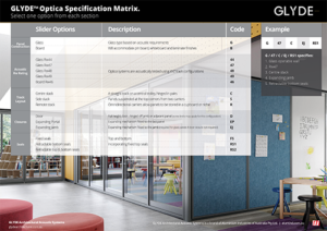 Optica operable wall specification guide