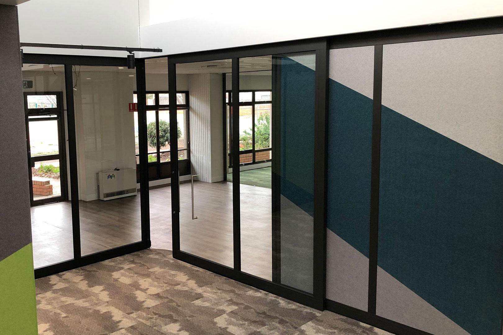 acoustic sliding door for schools
