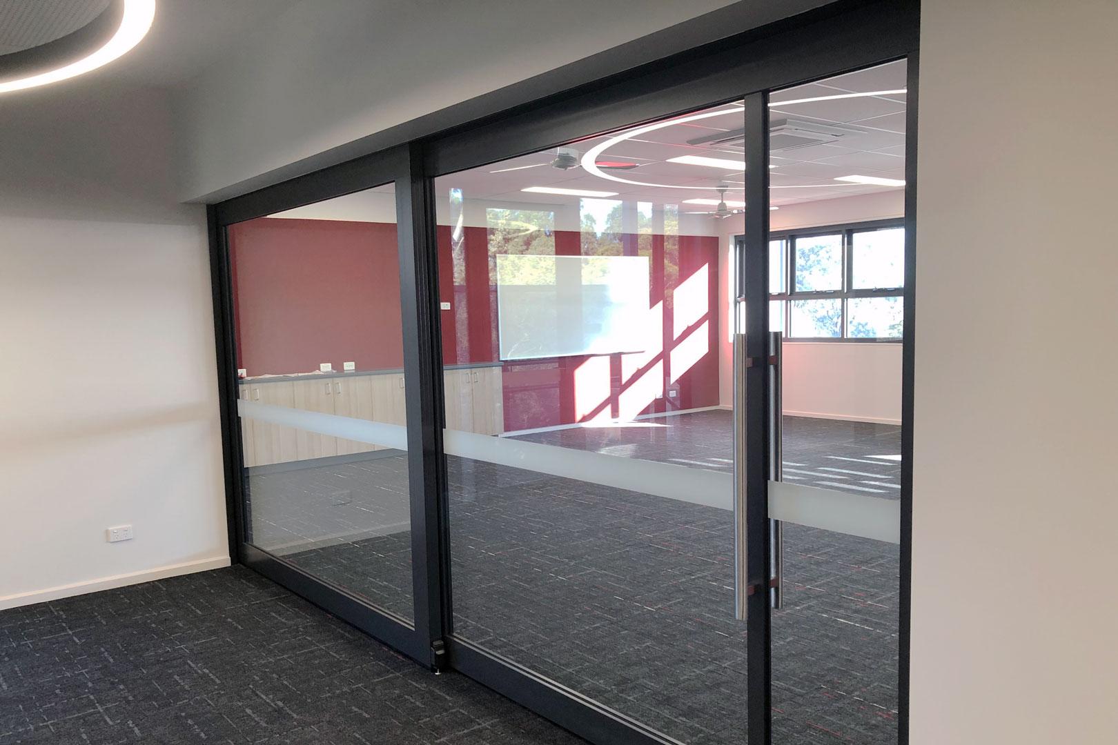acoustic sliding doors Bellbrae Primary School