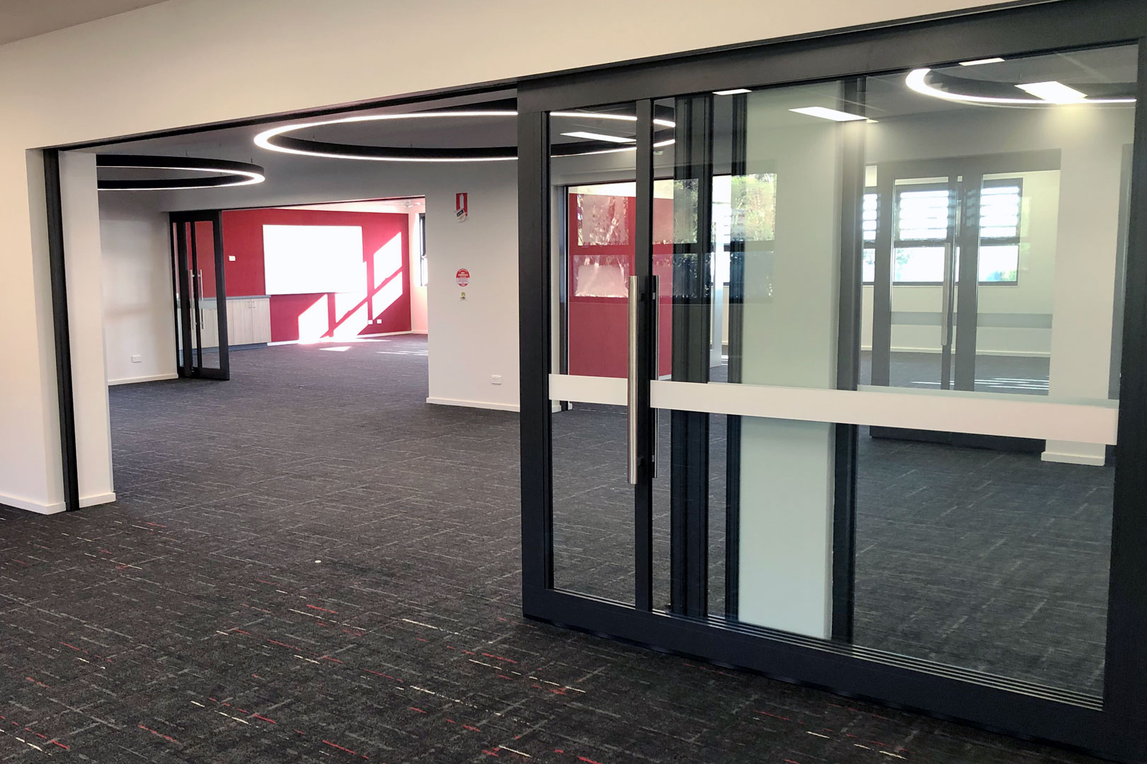 single cavity acoustic sliding doors and dual acoustic sliding doors
